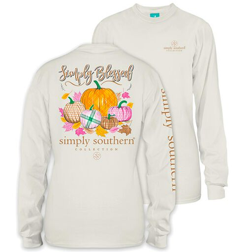 4c9b805a1f8b54 Simply Southern Women s Simply Blessed Long Sleeve T-Shirt