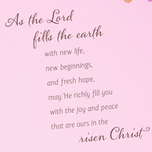 Celebrating New Life Religious Easter Card
