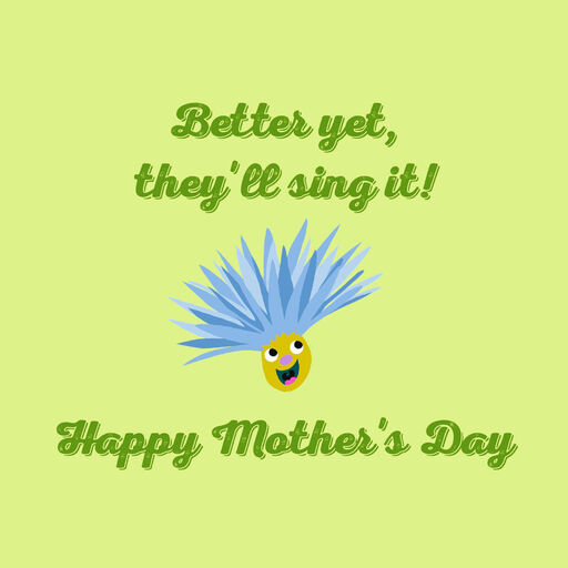 Singing Flowers Musical Mothers Day Card