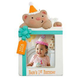 First Birthday Photo Holder Ornament, , large
