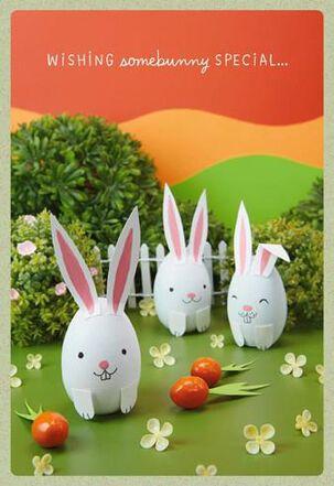 Bunny Eggs Easter Card