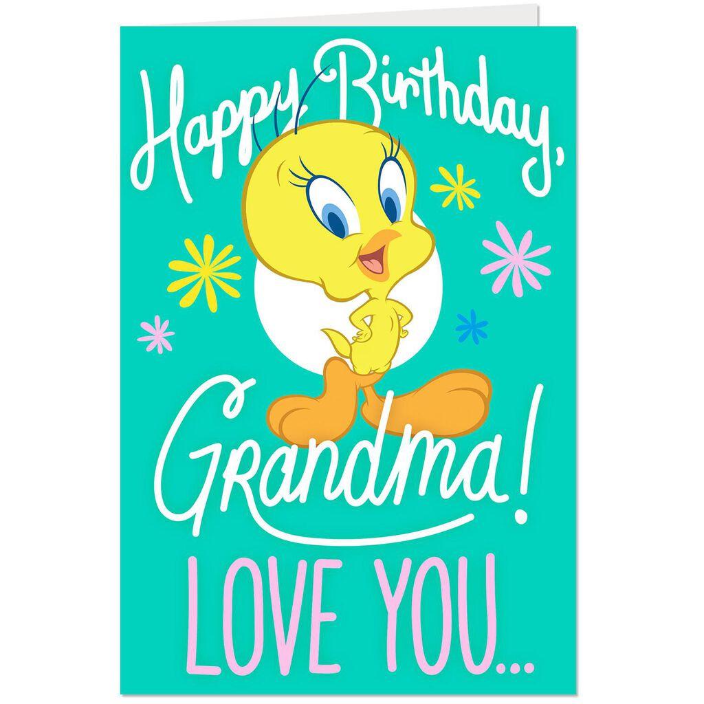 Looney TunesTM Tweety Love You This Much Birthday Card For Grandma