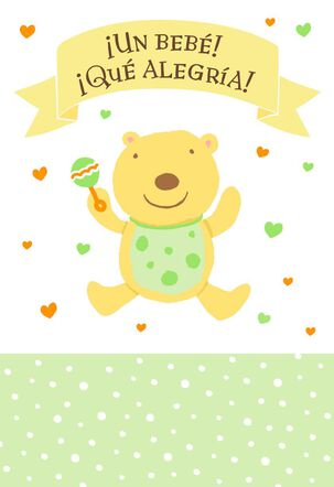 Joy in Your Heart Spanish-Language New Baby Card