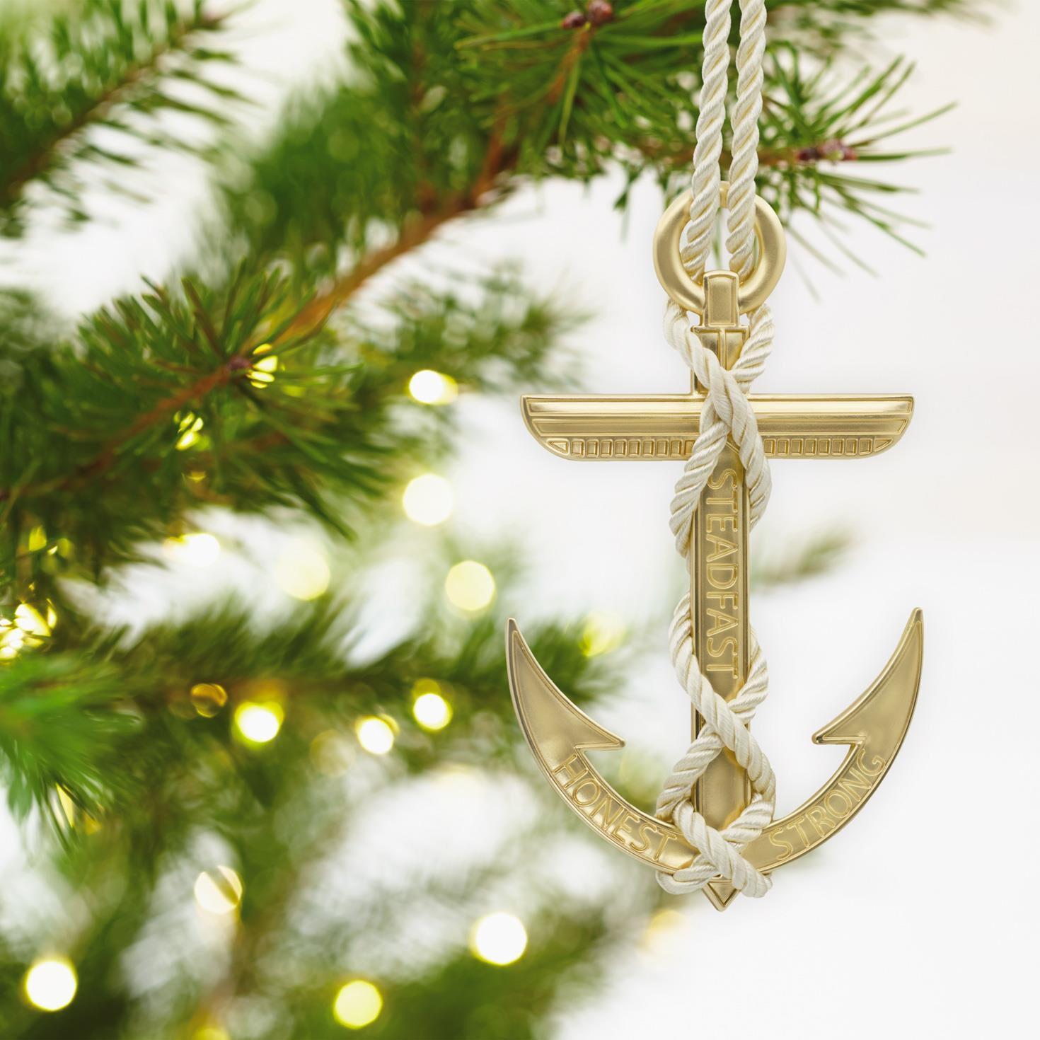 Anchor Strength Premium Metal Hallmark Ornament - Specialty ...