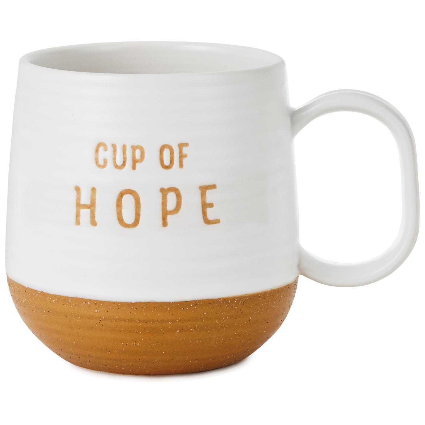 cup of hope stoneware mug 16 oz mugs teacups hallmark