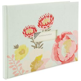 Floral Guest Book, , large