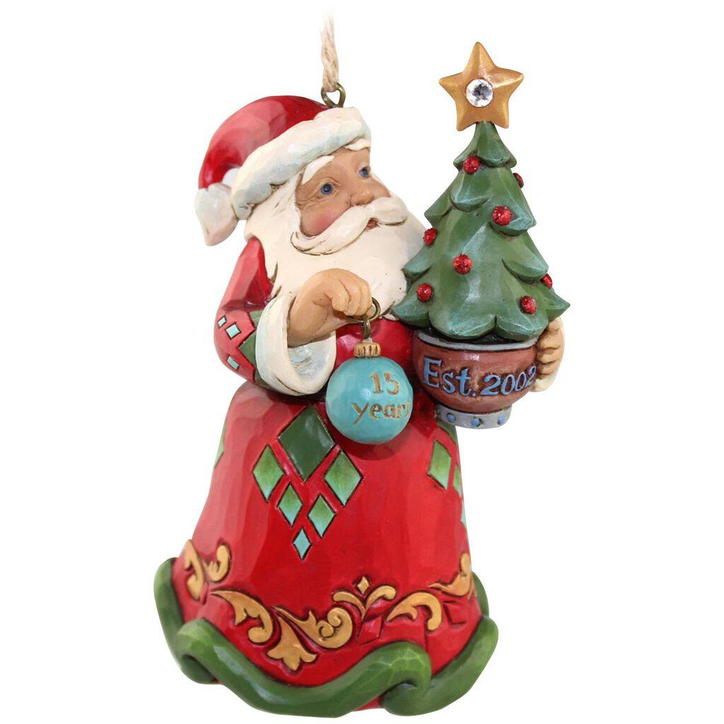 Jim Shore® 15th Anniversary Santa with Tree Ornament