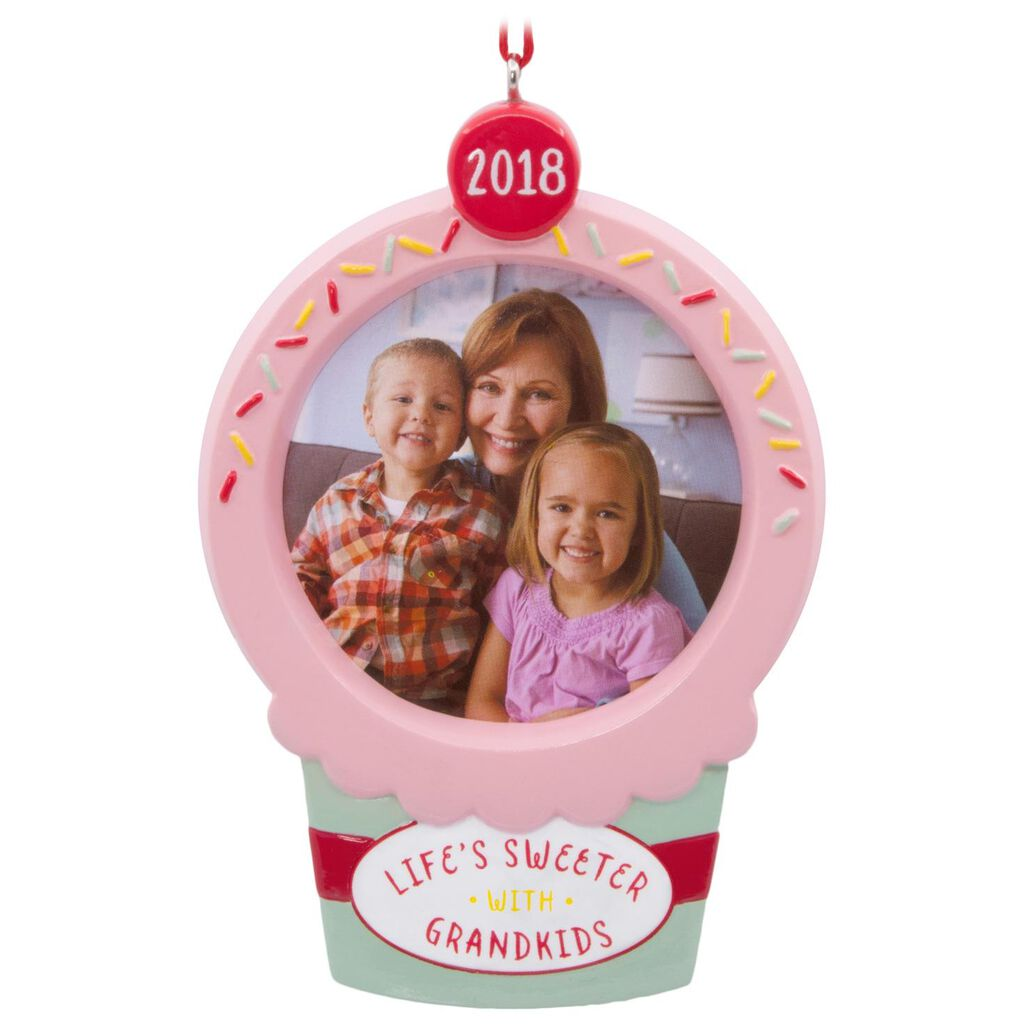 life s sweeter with grandkids 2018 picture frame hallmark ornament