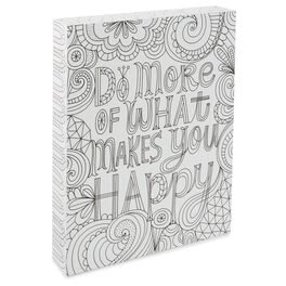 More of What Makes You Happy 8x10 Coloring Plaque, , large