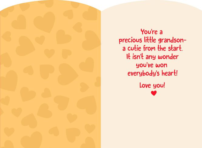 babys first valentines day card for grandson - First Valentines Day