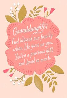 Love From Us First Communion Card for Granddaughter,