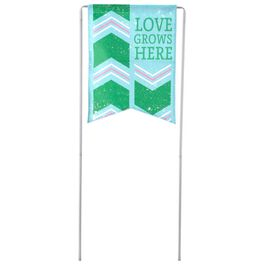Love Grows Here Garden Flag and Stake, , large