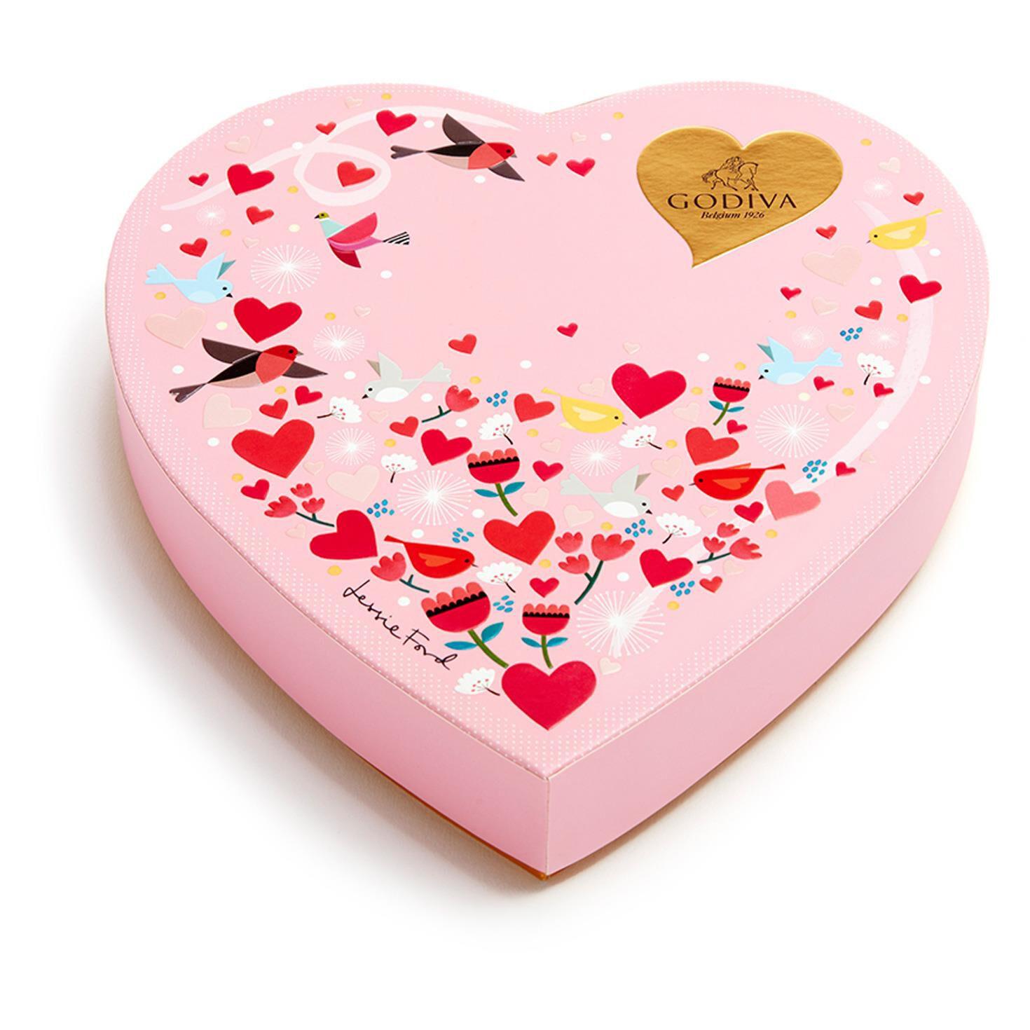 Godiva Chocolatier Assorted Chocolates Valentine\'s Day Heart Gift ...