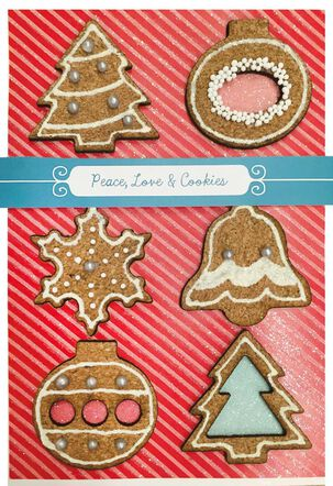 Peace Love Cookies Christmas Card