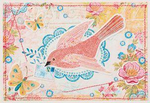 Bird Postcard Blank Card