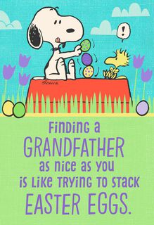 Peanuts® Snoopy and Woodstock Easter Card For Grandfather,