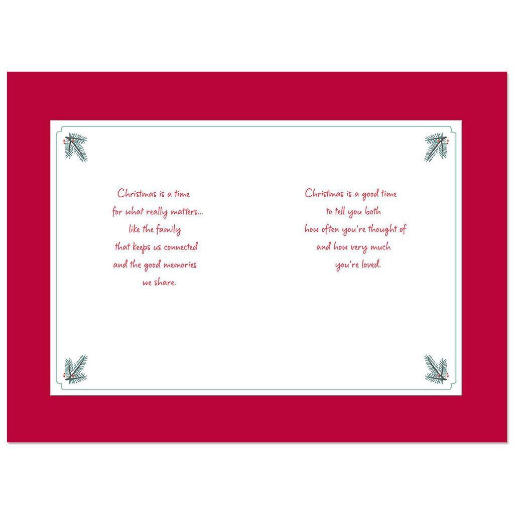 Youre Loved Christmas Card For Sister And Brother In Law Greeting