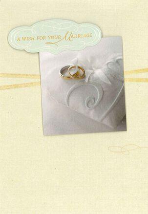Wedding Rings Wedding Congratulations Card