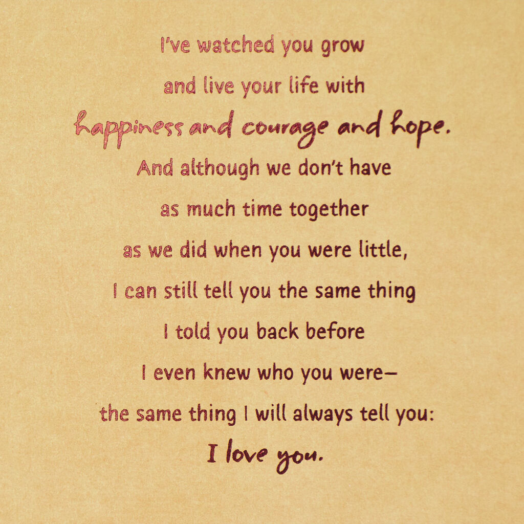 Ill Always Love You Birthday Card For Son From