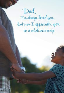 Dad Appreciation from Daughter Father's Day Card,