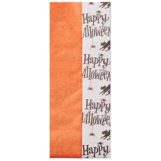 Happy Halloween and Solid Orange 2-Pack Tissue Paper, 6 Sheets,