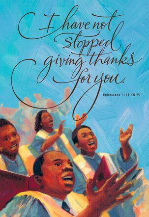 African-American Choir Blessing Birthday Card