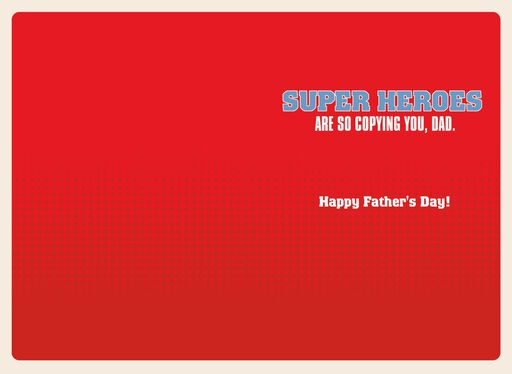 Marvel Avengers Super Hero Dad Father's Day Card,