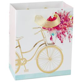 """Bicycle With Flowers Small Gift Bag, 6.5"""", , large"""