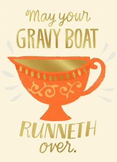 Gravy Boat Mishaps Funny Thanksgiving Card,
