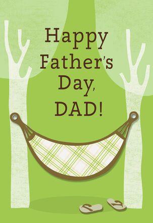 Tree Hammock Father's Day Card