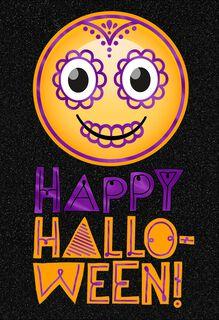 Happy Face Halloween Card,