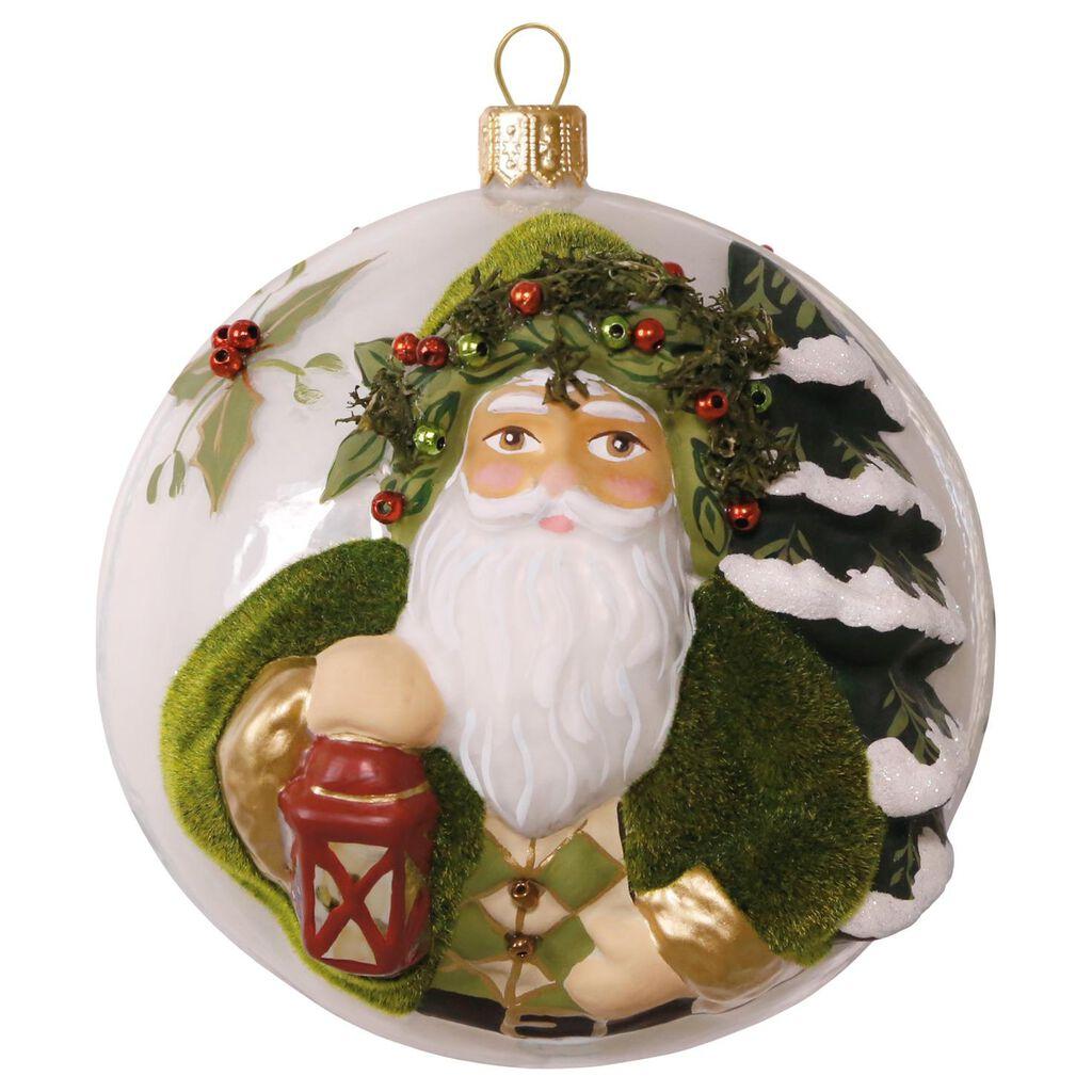 Evergreen Father Christmas Premium Glass Ornament - Keepsake ...