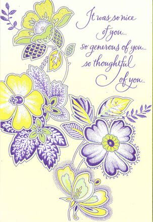 Thoughtful Flowers Thank You Card