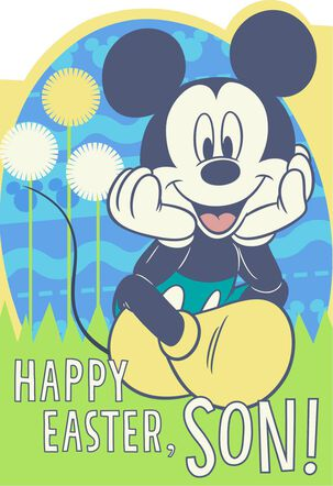 Mickey Mouse Easter Card for Son