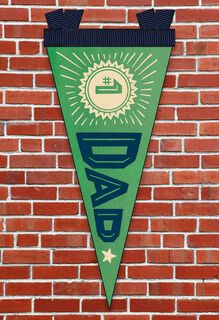 #1 Dad Father's Day Card With Felt Pennant,