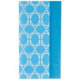 Solid Blue and Geometric Pattern 2-Pack Tissue Paper, 6 Sheets, , large