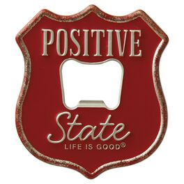 Life is Good® Positive State Metal Bottle Opener, , large