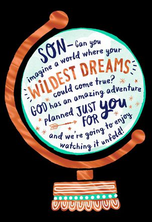 Imagine Your World Religious Graduation Card for Son