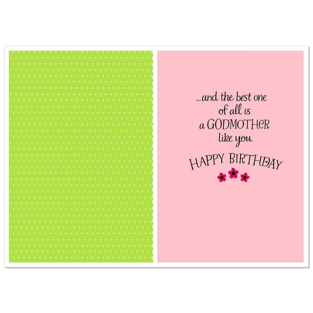 Youre The Best Blessing Birthday Card For Godmother