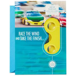 Drive Like the Wind Race Car VR Father's Day Card, , large