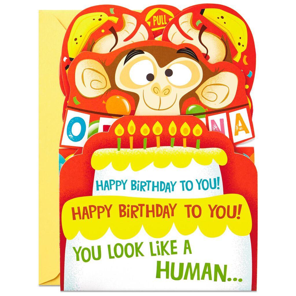 Go Bananas Monkey Pop Up Birthday Card