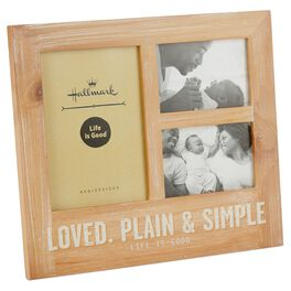 Life is Good® Loved, Plain and Simple Multi-opening Picture Frame, Holds 3 Photos, , large