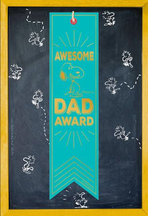 Peanuts® Snoopy Awesome Dad Award Father's Day Card With Ribbon