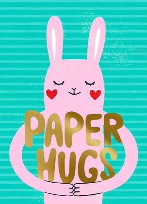 Paper Hugs Valentine's Day Card