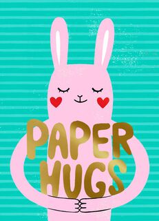Paper Hugs Valentine's Day Card,