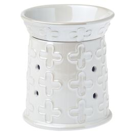 Crafters & Co. White Cross Wax Warmer, , large