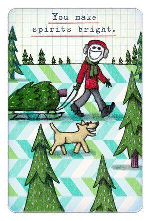 Life is Good® Bright Spirits Christmas Card