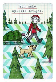 Life is Good® Bright Spirits Christmas Card,