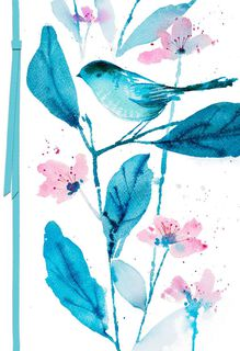 Watercolor Bird Care and Concern Card,