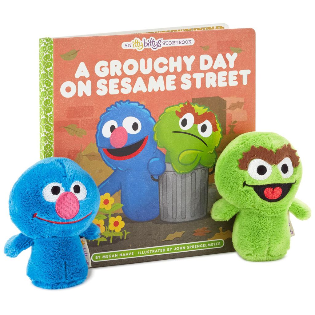 itty bittys a grouchy day on sesame street stuffed animals and